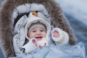 Как одевать на прогулку новорожденного зимой
