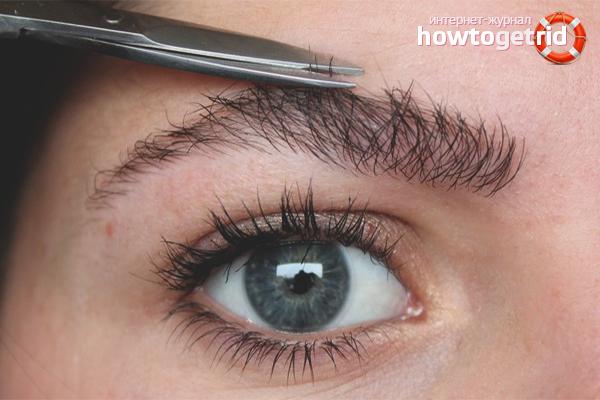 Как подстричь брови в домашних условиях