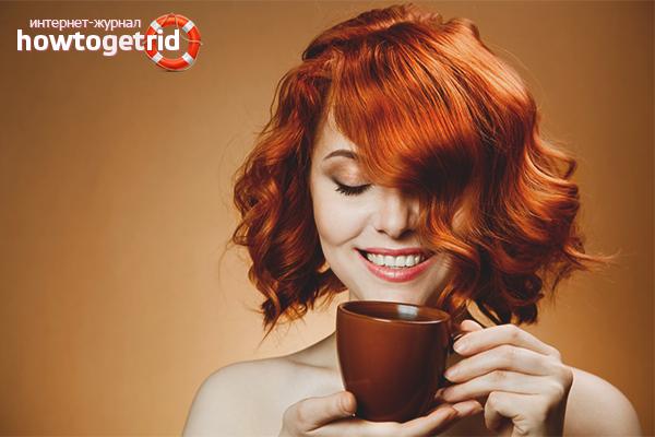 Как покрасить волосы чаем