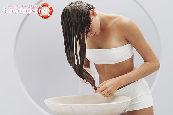 Как полоскать волосы уксусом