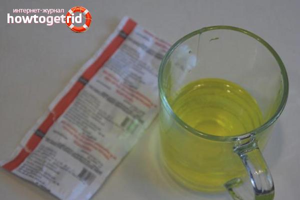 Как приготовить раствор фурацилина из таблеток