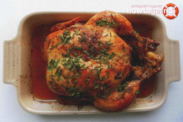 Как замариновать курицу для запекания в духовке