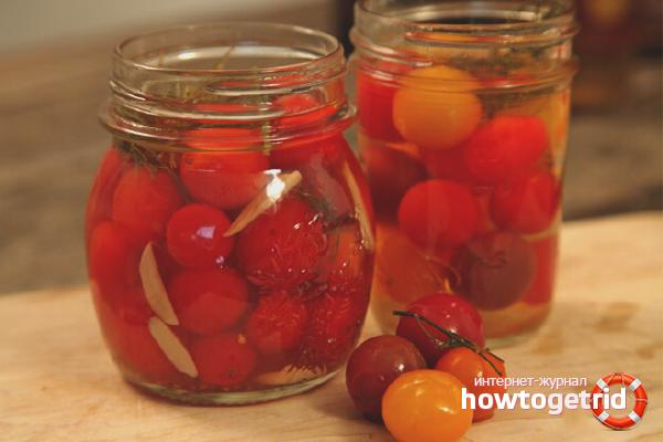 Консервированные помидоры «Черри»