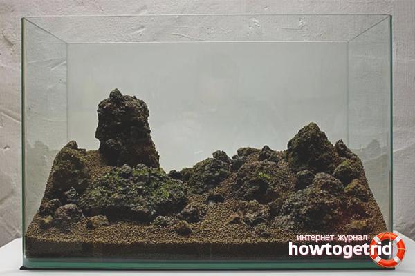 Размещение грунта в аквариум