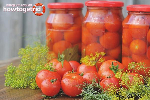 Сладкие консервированные помидоры