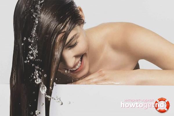 Как быстро смыть тоник с волос