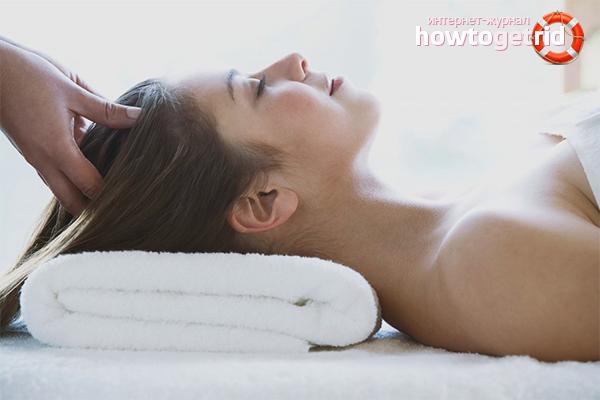 Как делать массаж головы для роста волос