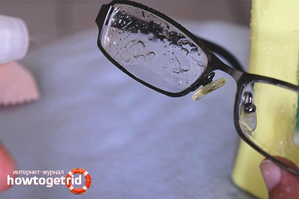 Как убрать крупные царапины на очках