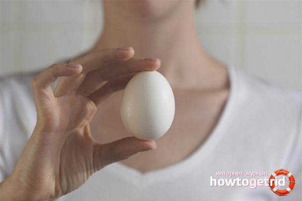 Куриное яйцо от мозолей