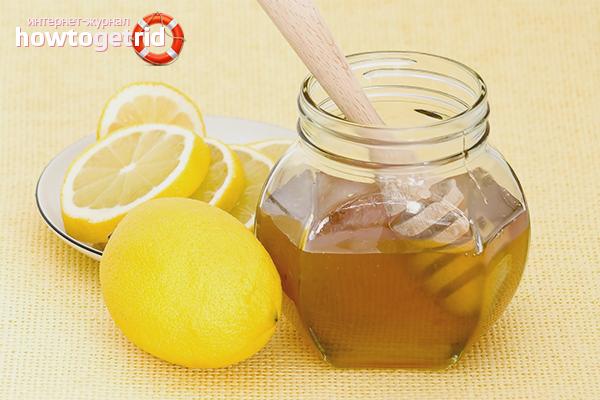 Лимон и мёд для смывки черного цвета волос