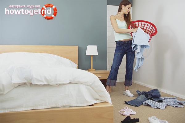 Содержите спальню в чистоте