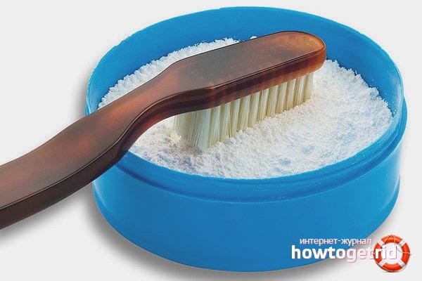 Зубной порошок для чистки замши