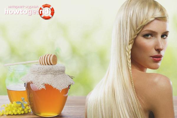 Как обесцветить волосы мёдом