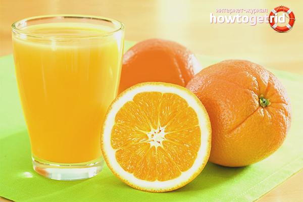 Апельсиновый сок для сосудов головного мозга