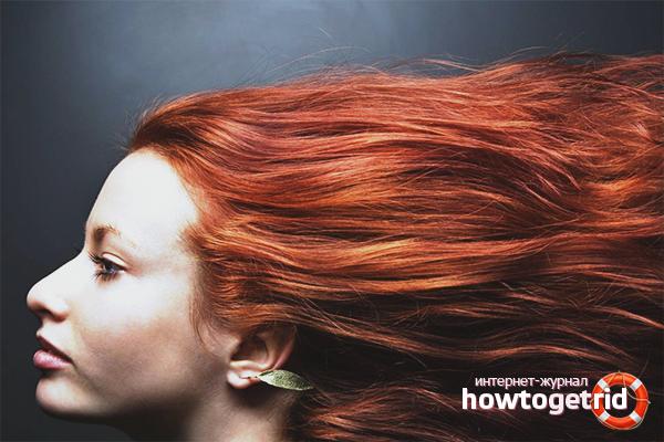 Домашние способы избавиться от красноты волос