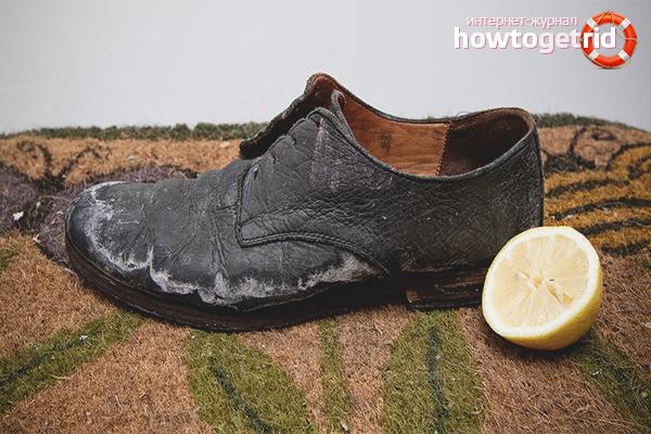 Как очистить обувь из разных материалов от соли