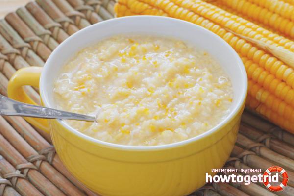 Как правильно варить кукурузную кашу на воде