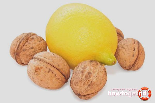 Лимон и грецкие орехи для сосудов головного мозга