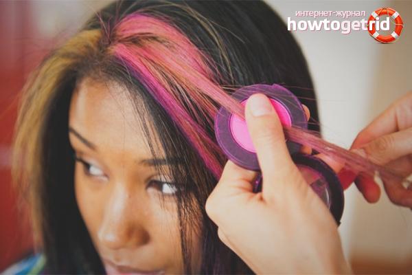 Технология использования цветных мелков для волос