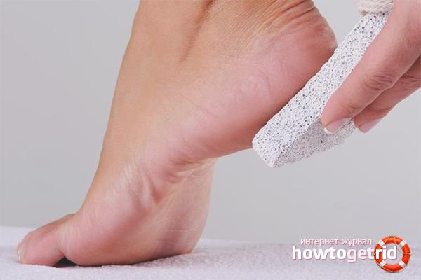 Технология использования пемзы для ног