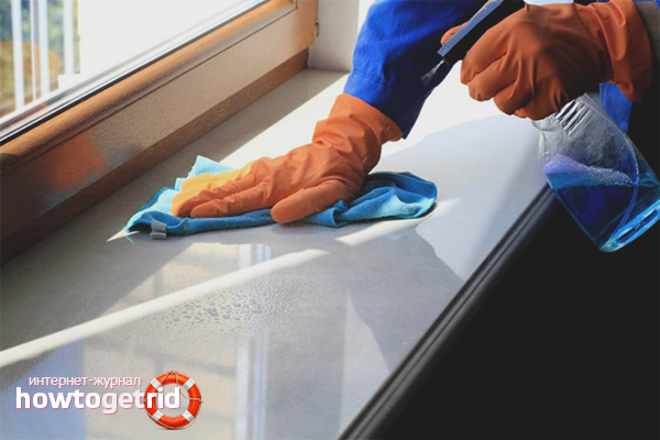 Как почистить подоконник
