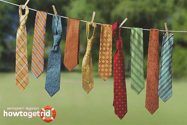Как постирать галстук