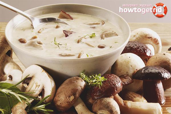 рецепт постный суп из замороженных грибов