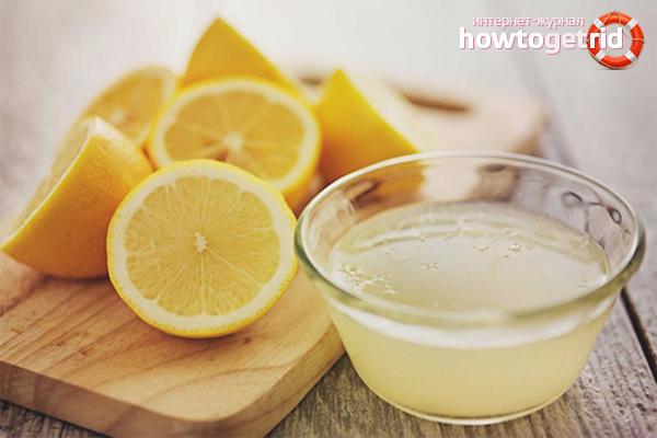 Лимонный сок от пятен мочи