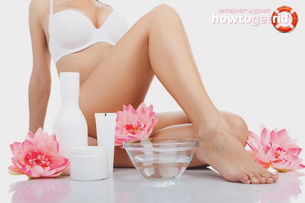 Подготовка кожи ног к депиляции