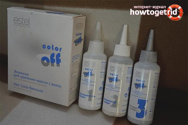 Салонные средства для смывки чёрной краски
