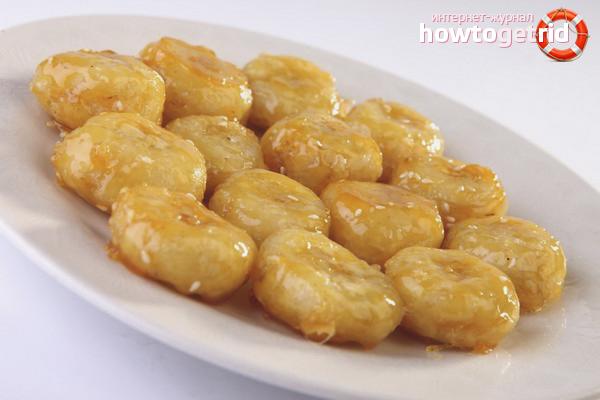 Бананы в мёде