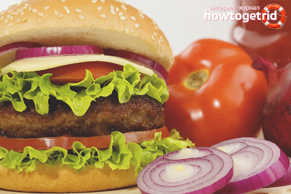 Чизбургер с запечёнными овощами