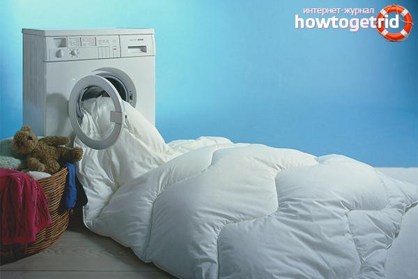 Как постирать ватное одеяло в домашних условиях
