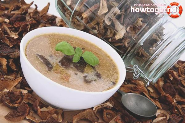 приготовить суп из грибов сушеных рецепт