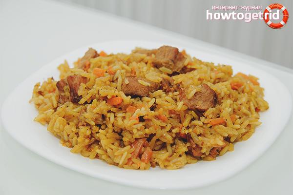 как приготовить плов из свинины чтобы рис был рассыпчатым видео