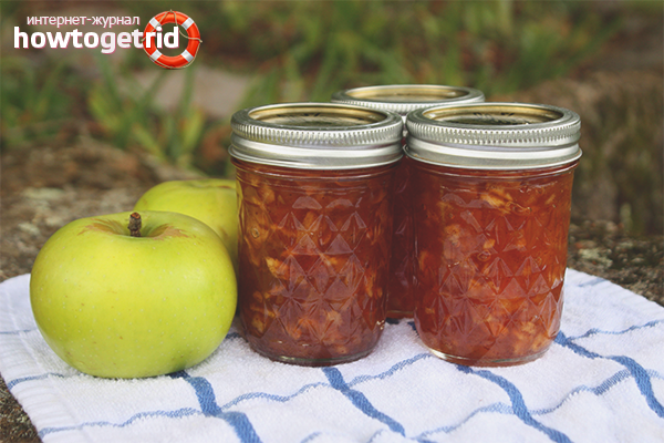 Классический рецепт яблочного варенья «Пятиминутка»