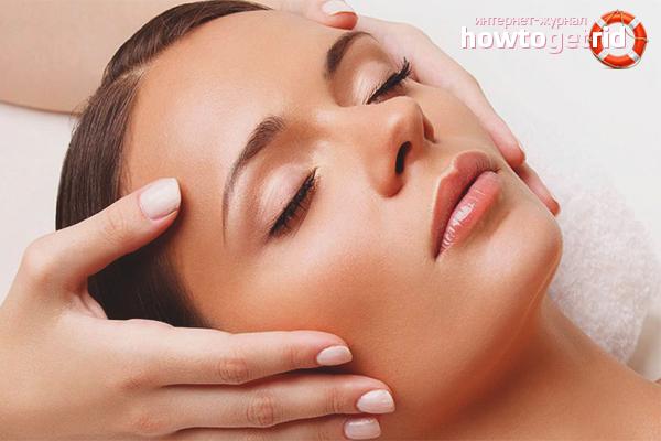 Массаж для подтягивания кожи щёк