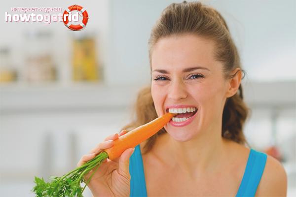 Морковка для белых зубов