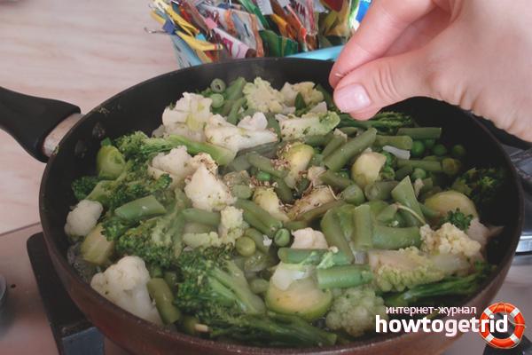 Обжаренные замороженные овощи