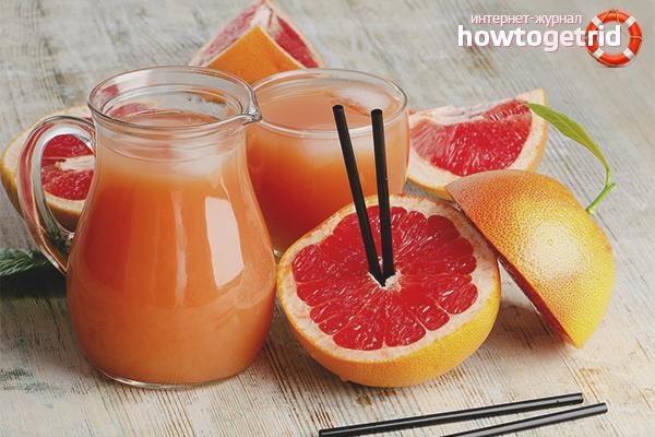 Особенности употребления грейпфрутового сока