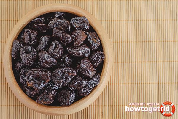Рецепт приготовления сладкого чернослива