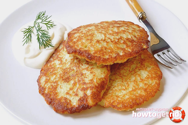 Драники на основе картофельного пюре