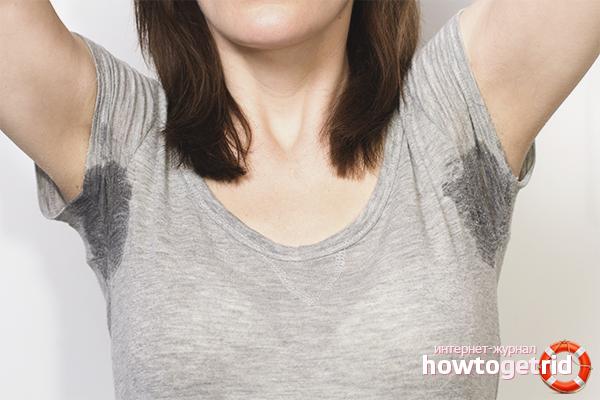 Как избавиться от мокрых подмышек