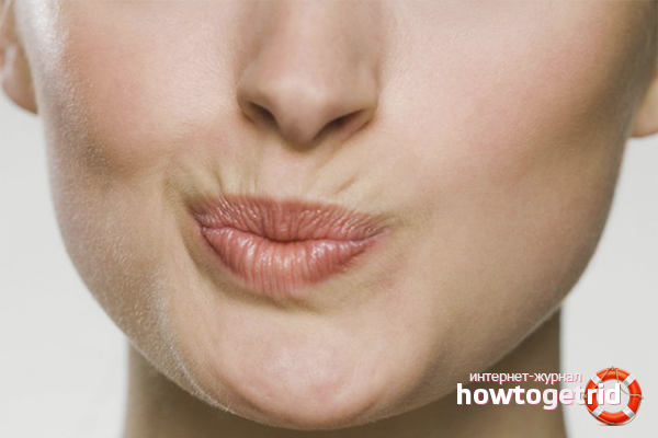 Как разгладить морщины над губой