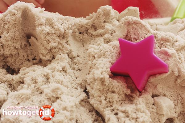 Как сделать кинетический песок в домашних условиях