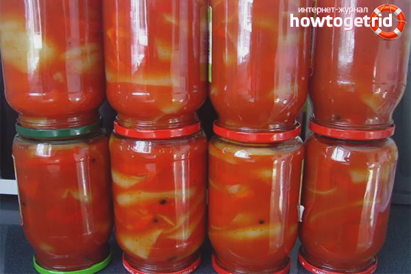 Маринованный перец в томатном соке