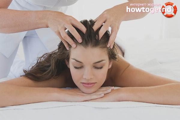 Массаж головы для укрепления волос