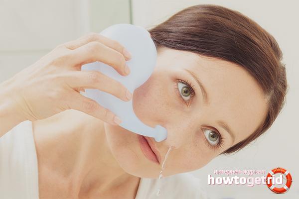 Промывания носа против насморка