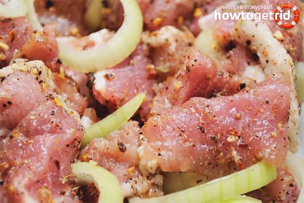 Как замариновать шашлык из свинины