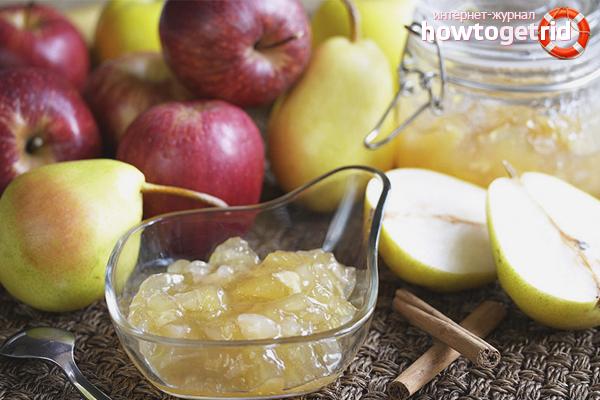 Грушевое варенье с яблоком
